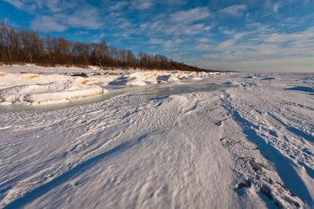 sea in winter photo