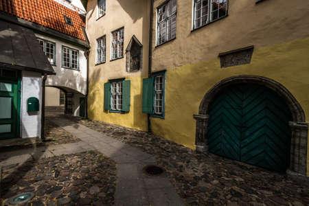 tallin: streets of the old tallin Stock Photo