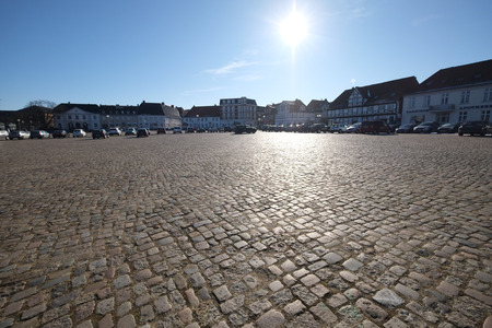 Cobbled square Stock Photo