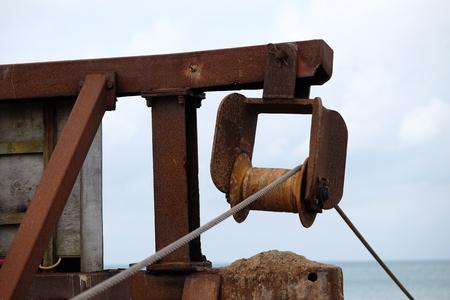 Rusty industrial plant