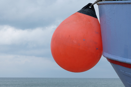 Fender on a fishing boat