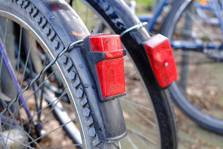 Lighting on bicycles Stock Photo