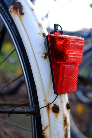 Tail light on the bike