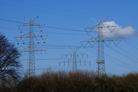 Electricity pylons in nature