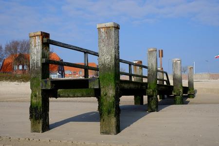 Beach bridge on Foehr / GER Stock fotó