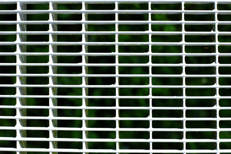 Protective grille made of hot-dip galvanized steel