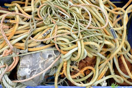 Unsorted ropes at a fishing port