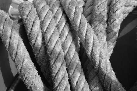 Old rope on a sailor Stock fotó