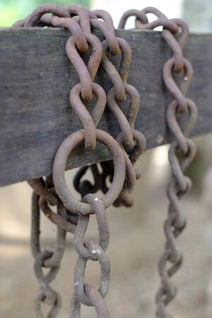 Chain on a garden fence