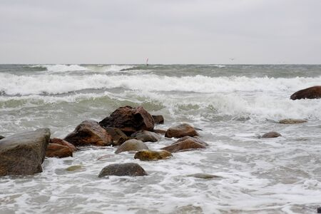 Storm and surf on the Baltic Sea