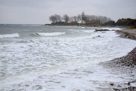 Churned sea on the coast Stok Fotoğraf