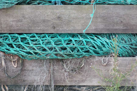 Fishing net in a storage box