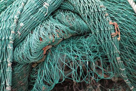 Stacked fishing net with large mesh Standard-Bild