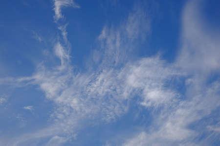 White thin clouds in the sky Standard-Bild