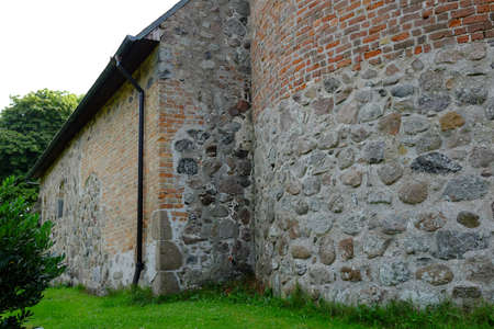 Field stone wall on an old building