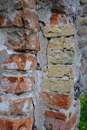 Defective masonry with different stones