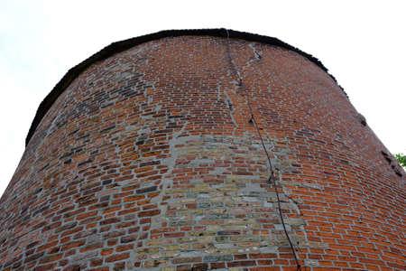Round tower with field stone masonry