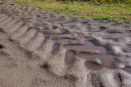 Tractor tracks after the rain