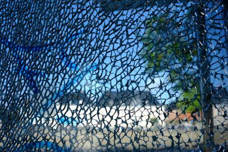 Shattered glass after a break-in Standard-Bild