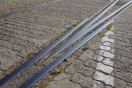 Disused rails in the port area