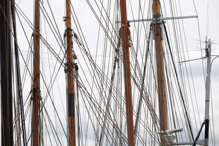 Sailing harbor with tall ships Standard-Bild