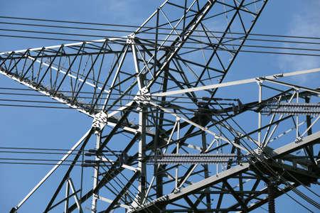 High-voltage mast for electrical lines Standard-Bild