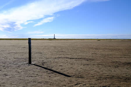 Wide landscape in front of the lighthouse (Westerhever / D)