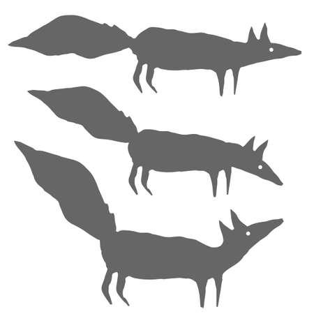 Fox Silhouettes Illusztráció