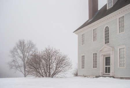 Hamilton House on Foggy Winter Day