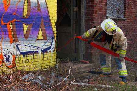 Firefighter Chaplain assisting New Hampshire town with a mill fire