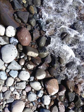 superior: Rocky shore of Lake Superior Stock Photo