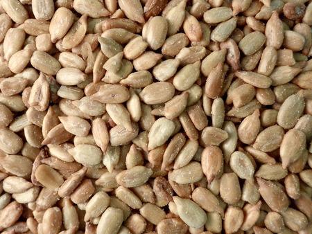 semillas de girasol: Primer plano de un montón de semillas de girasol saladas