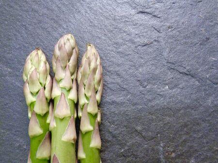 Asparagus on slate