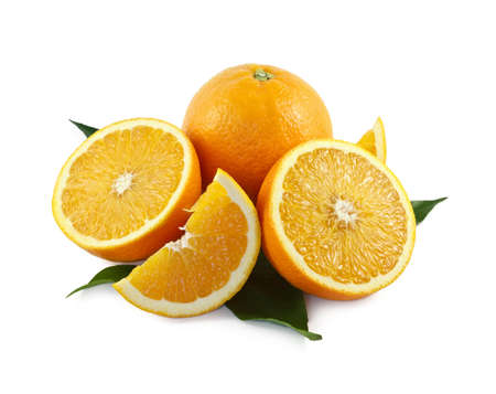 Orange on a white background Stock Photo