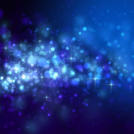 Abstract blue background with circles and stars Stock Photo