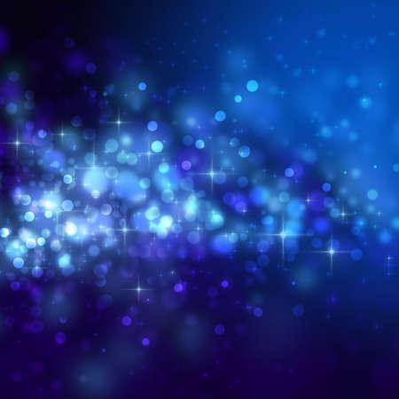 Abstracte blauwe achtergrond met cirkels en sterren