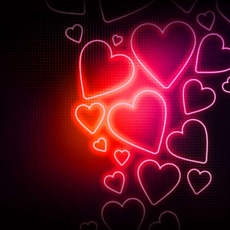 Abstract background with many hearts