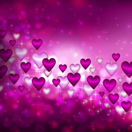 Abstract background with many hearts photo