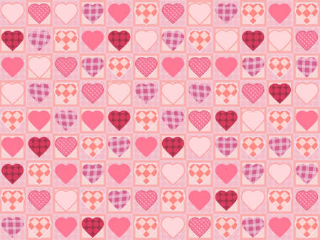 A square background with hearts pattern photo