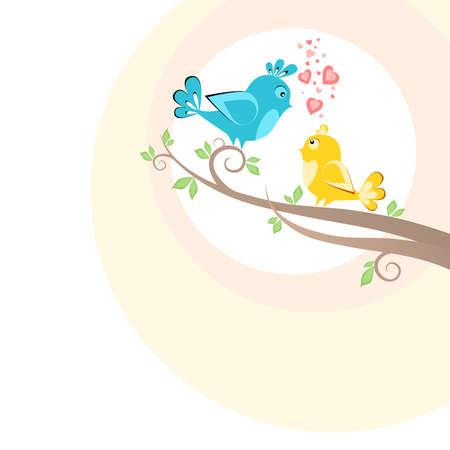 Two beautiful birds on the tree Stock Photo - 20104351