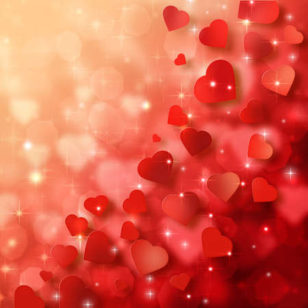 shiny heart: Abstract background to the Valentines day