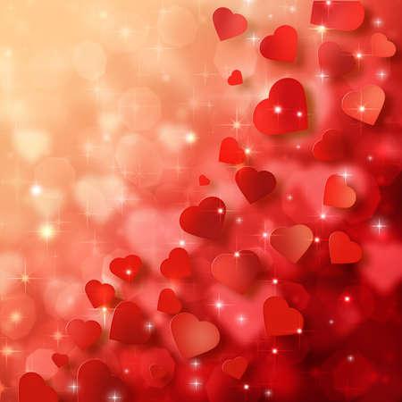 corazon: Fondo abstracto para el día de San Valentín Foto de archivo