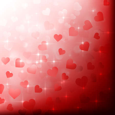Valentine's day background with hearts photo
