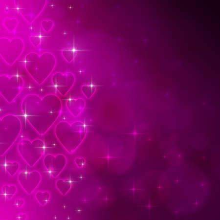 Valentines day background with many hearts photo
