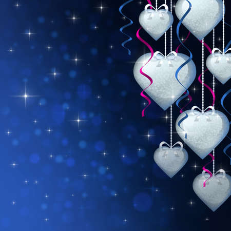 Valentine's day background with many hearts Stock Photo - 21808490