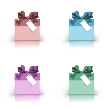 Gift boxes of different color combinations
