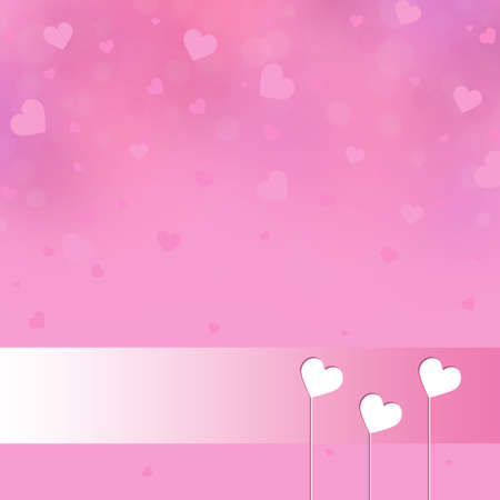 Valentines day background with white hearts