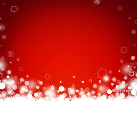 Red abstract Christmas background with snowflakes Stock Photo