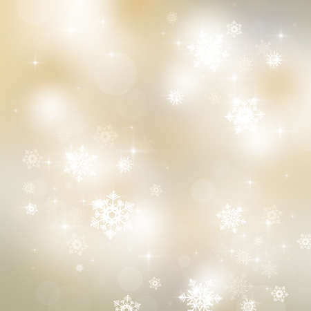 Abstract Christmas background with snowflakes and stars