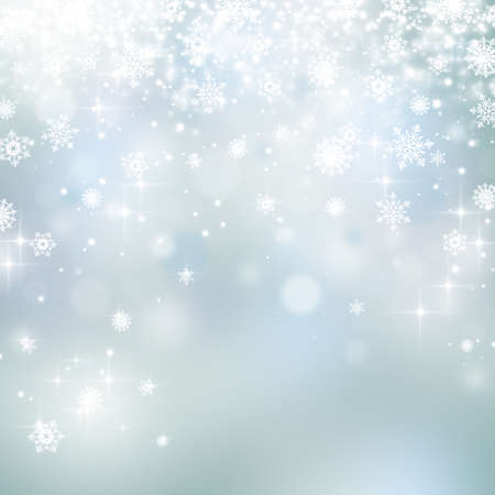 Lights and snowflakes on abstract Christmas background